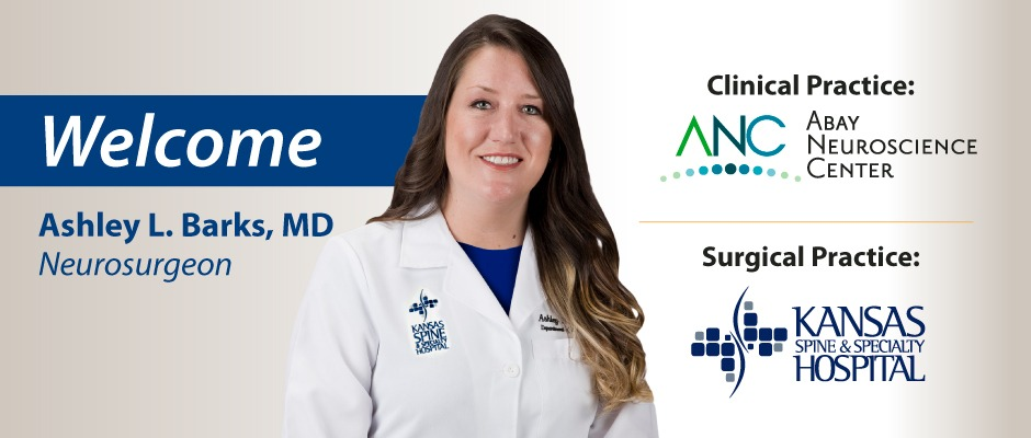 Welcome Dr. Ashley Barks, neurosurgeon.