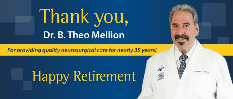 Dr. Mellion retires after nearly 35 years.